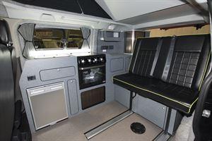The interior of the Danbury Raven campervan