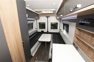 The interior of the Danbury Avenir 63 LG campervan