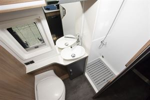 The washroom in the Danbury Avenir 63 LG campervan