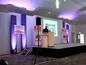 Dave Hurrell presenting his 'buying a motorhome' seminar at the recent National Motorhome Show