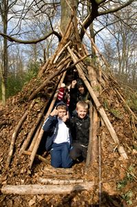 Den building, image: Forestry Commission Crown Copyright