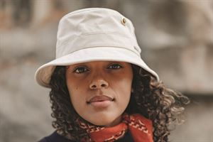 Tilley bucket-style hat in natural