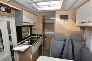Inside the Dethleffs Globebus T 1 motorhome