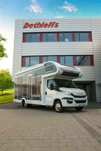 The all-electric motorhome was built by Dethleffs to show a vision of future motorhoming