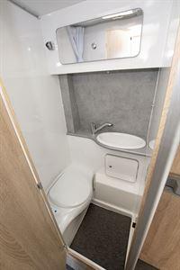 The washroom in the Devon Colorado campervan