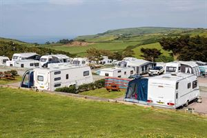 Easewell Farm campsite, near Mortehoe, Woolacombe Bay