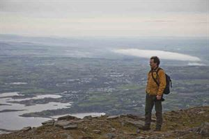 Admiring the views at the top of Croagh Patrick, near Westport - picture courtesy of Martin Dorey