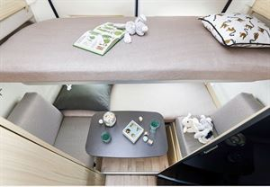 Bunks in the Dreamer Camper Five - image courtesy of Rapido Group