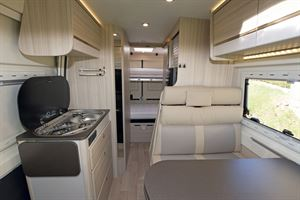 A view of the interior in the Dreamer D53 Fun campervan