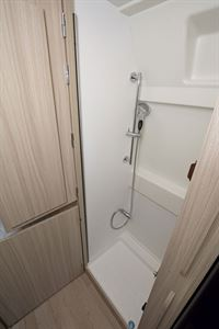 The shower in the Dreamer D53 Fun campervan