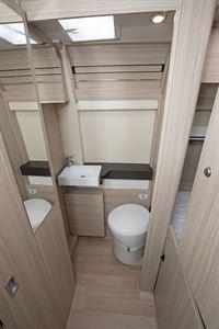 The washroom in the Dreamer D53 Fun campervan
