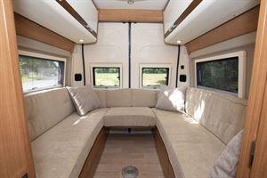 The rear, u-shaped lounge