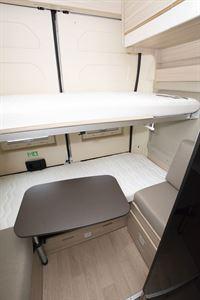 The bunk beds in the Dreamer Camper Five campervan