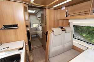 The interior of the Dreamer Living Van campervan