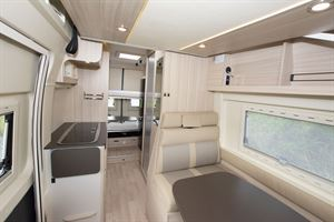 A view of the interior in the Dreamer Camper Five campervan