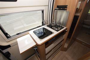 The kitchen in the Dreamer Living Van campervan
