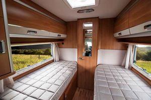 The new Laika Ecovip 419 twin beds