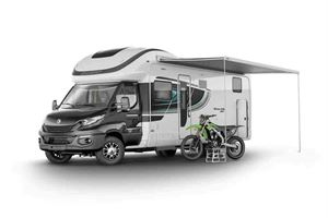 A look at the imposing 675 - here with awning attached - picture courtesy of the Swift Group