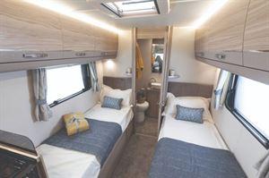 Elddis Autoquest 185 Motorhome interior with Single Bed Layout