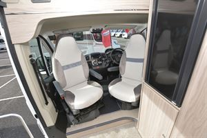 The cab seats in the Elddis Autoquest CV20 campervan