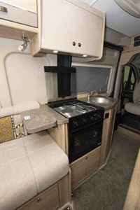 The kitchen features a Thetford Triplex cooker © Warners Group Publications, 2019
