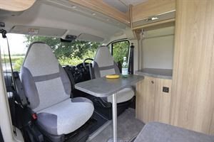 The cab seats in Elddis Autoquest CV60 campervan
