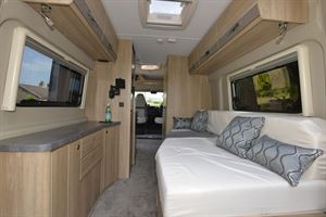 The side lounge in the Elddis Autoquest CV60 campervan