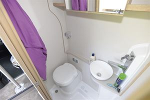 The washroom in the Elddis Autoquest CV60 campervan