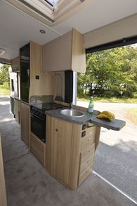 The Elddis Autoquest CV60 campervan kitchen
