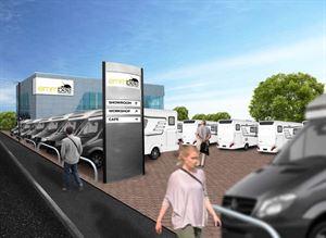 A mock-up of Emm-Bee Motorhomes' new premises