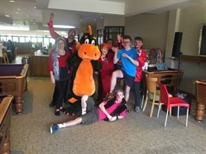 the bar and restaurant team joined Cofton mascot Digby and the entertainments team on the dancefloor to learn the Digby Dance