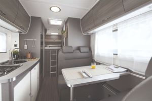 Etrusco A7300 Motorhome Interior with Bed Layout
