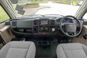 Driver's view in the cab - picture courtesy of Geoff Cox Leisure