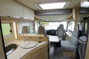 View of the Eura Mobil's interior - picture courtesy of Geoff Cox Leisure