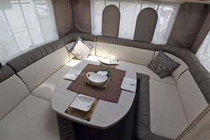 Plush seating in the Eura Mobil Integra Line 650 HS motorhome