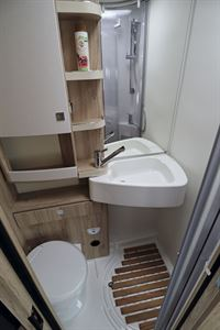 The washroom in the Eura Mobil Integra Line 650 HS motorhome