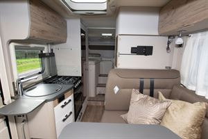 The view from front to rear in the Hymer Exsis i-580 motorhome