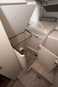 Storage in the Hymer Exsis i-580 motorhome