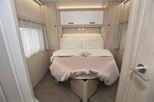 The bedroom in the Auto-Trail F-Line F74 motorhome