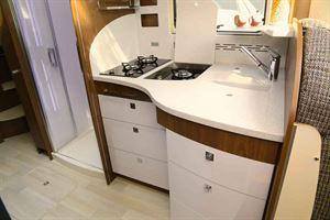 The kitchen in the new Frankia Titan
