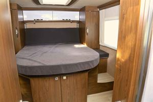 The fixed double bed in the new Frankia Titan