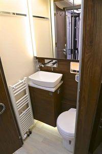 The washroom in the new Frankia Titan