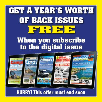 Subscribe to MMM, What Motorhome, Campervan, Caravan or Camping magazine and you'll get instant access to up to 13 back issues for free!