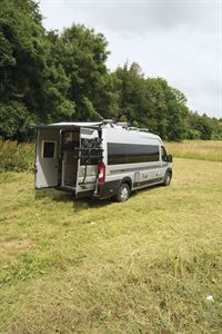 A rear view of the Auto-Sleeper Fairford Plus campervan