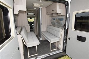 Auto-Sleeper Fairford Plus with doors open