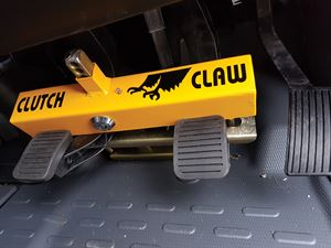 This Clutch Claw locks the pedals in place