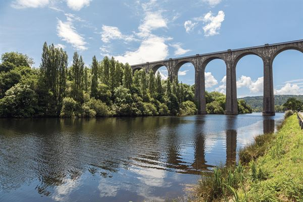 Port-Launay viaduct in Brittany, France
