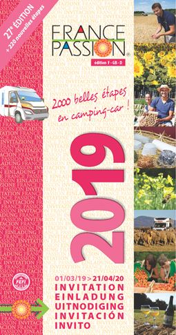 France Passion 2019 guide to free French motorhome stopovers now available