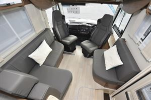 The lounge and cab area in the Frankia F-Line I 740 BD