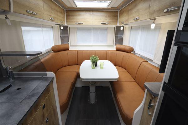 The impressive U-shaped lounge in the Frankia Platin I7900 Plus
